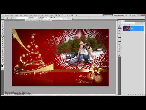 Tutorial Photoshop: Creando masks (wallpaper Navidad).