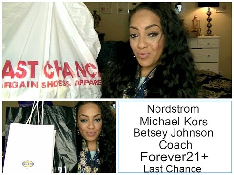 MASSIVE FALL HAUL Nordstrom Last Chance, MK, Coach, Forever21, Betsey ...