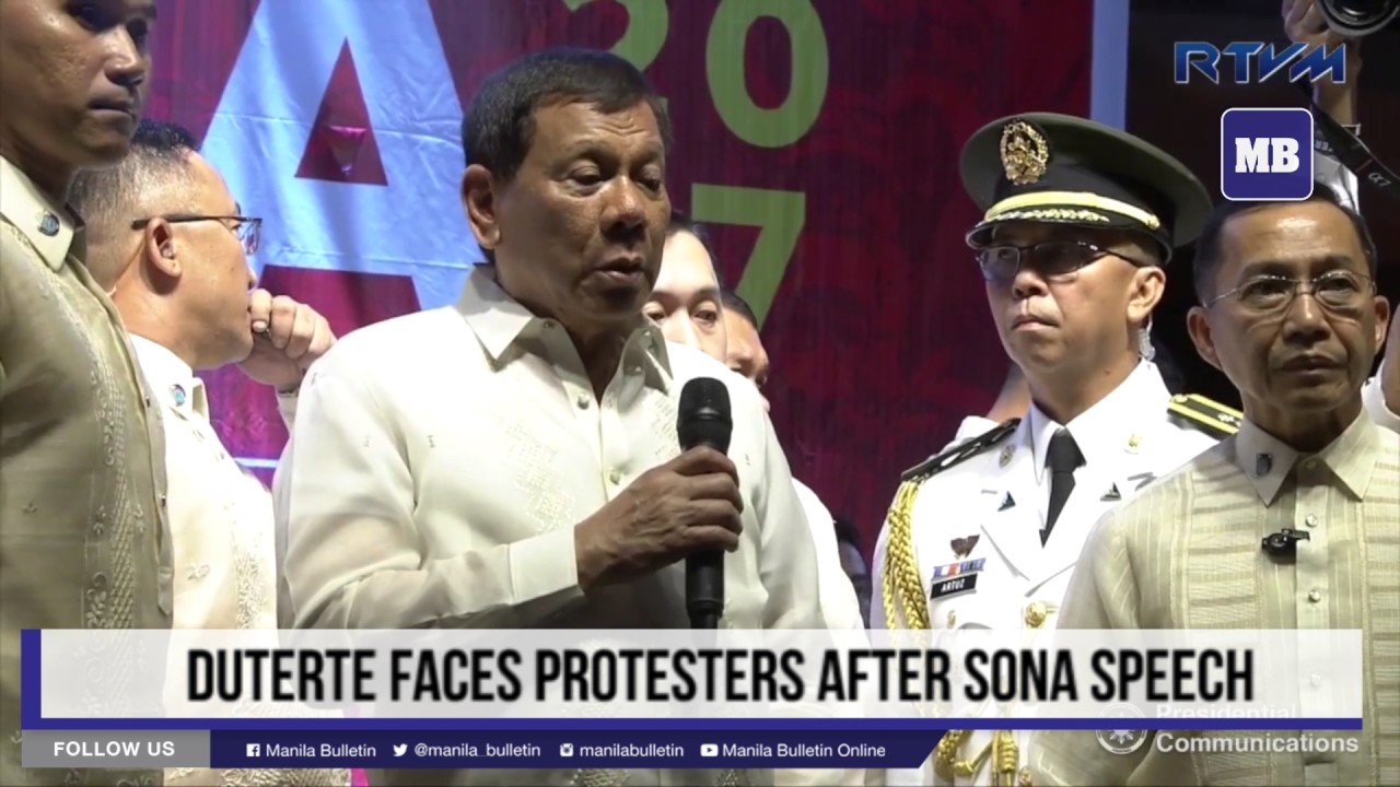 Duterte faces protesters after SONA speech