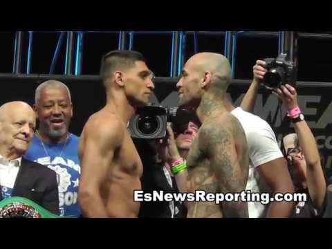 Amir Khan vs Luis Collazo Weigh ins