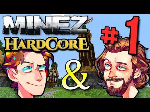 Minecraft MineZ HC #2! - Part 1 (Ft. ProJared & Brutalmoose!)
