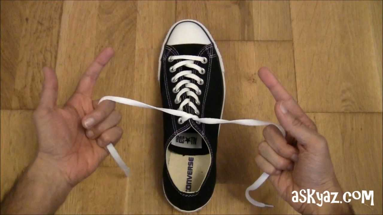 How to tie a Shoe Lace in 1 Second - YouTube