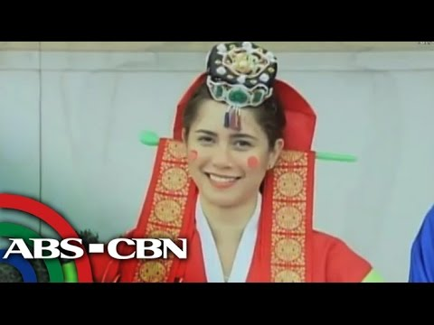 Jessy Mendiola tries on Korean wedding dress