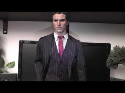Bruce Wayne 1:4 scale custom suit figure