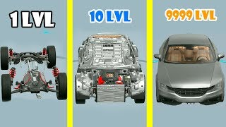 Idle Car Garage Evolution! Fastest Way Create Sedan & Unlocked All Details! Max Level in Idle Car