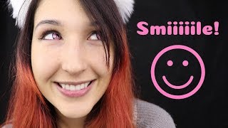 ASMR - SMILE SOUNDS ~ The Happiest Mouth Sound | +Whispers ~