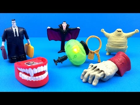 HOTEL TRANSYLVANIA MCDONALD'S COMPLETE SET OF 6 HAPPY MEAL KIDS TOYS 2012 REVIEW HT 2 2015