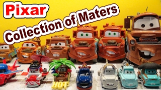 Mater Collection of My Maters from Pixar Cars, CarsToons, and Pixar Cars2 too