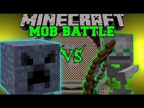 MEGA BLOCK VS SKELETON FRIEND - Minecraft Mob Battles - Anti Plant Virus & BossCraft 2 Mods