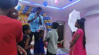 Interacting with kids at birthday party CEE MC Lambo Kanna
