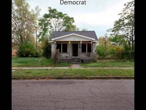 Detroit Michigan USA - After Decades of Liberal Policies