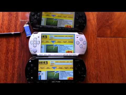 PSP 1000 vs PSP 2000 vs PSP 3000 Speed Comparison
