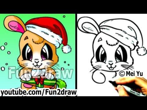 Christmas Bunny Drawing How to Draw Santa Bunny For