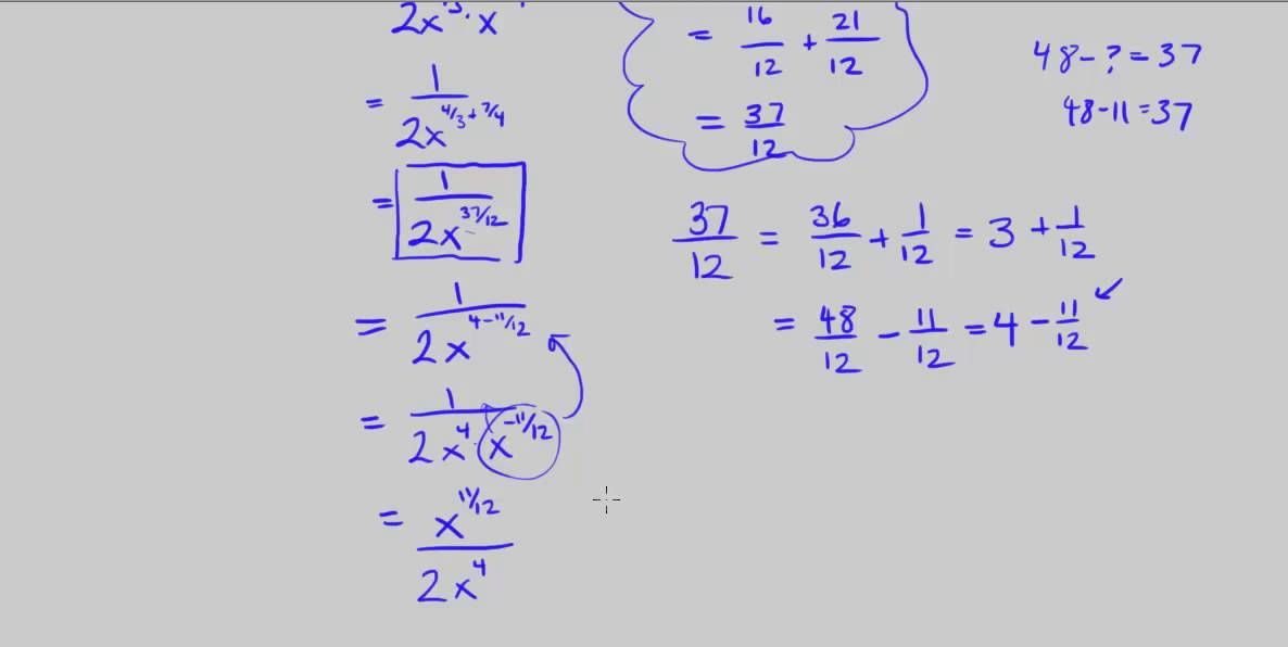 Kuta - Simplifying Rational Exponents (9 through 16) - YouTube