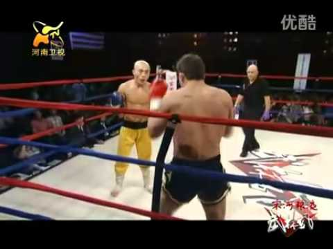 Shaolin monk KO  U.S. Navy SEAL&#039;s Boxer ( IKF Champion)