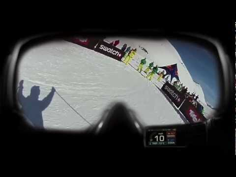 POV of Stefan Häusl and his Recon Instruments MOD Live at FWT 2012 Fieberbrunn