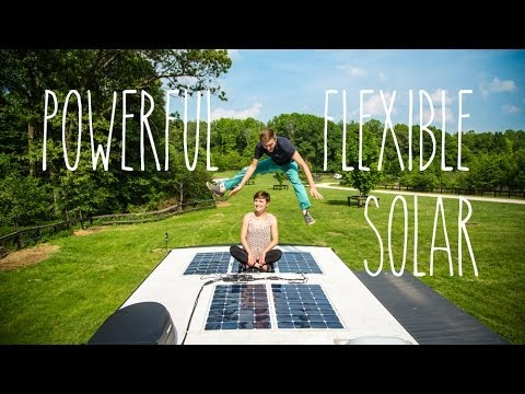 Best Rv Upgrade Powerful Flexible Solar Panels Youtube
