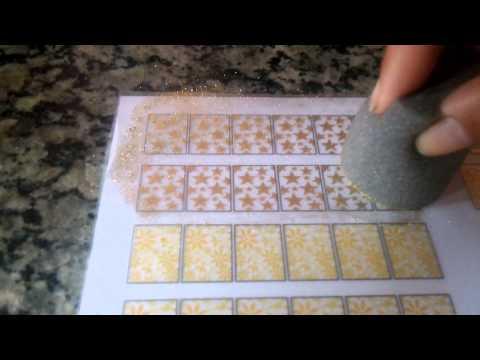 Como fazer peliculas de unha com glitter