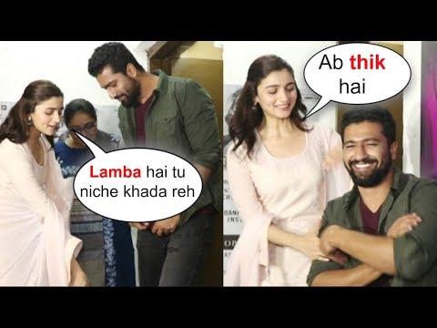 Alia Bhatt Makes Fun Of Vicky Kaushal's Tall Height At Raazi Movie Screening thumbnail