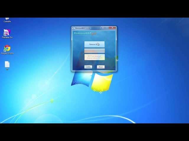 Activer Windows 7 sans clé d'activation - RemoveWat 2.2.6. Installer
