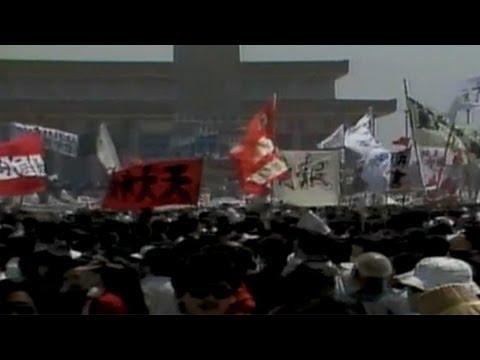 1989: Tiananmen Square protests