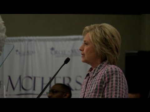 Hillary Clinton speaks out against gun violence in Florida