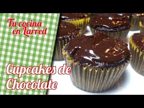Cupcakes de chocolate al microondas en 1 minuto.