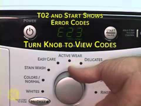 GE Front Load Washer Test Modes