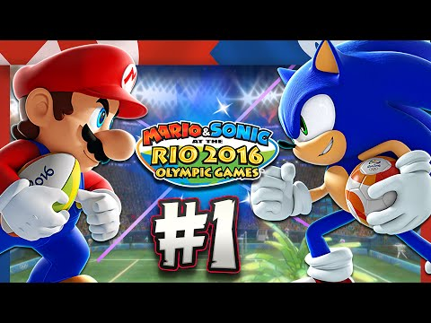 Mario & Sonic at the Rio 2016 Olympic Games - Wii U - Part 1 Mario, Sonic, Amy, & Peach