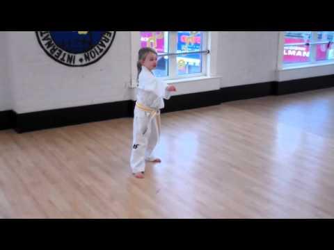 Erin demonstrating Taekwondo at Trident Academy - 01/26/2014