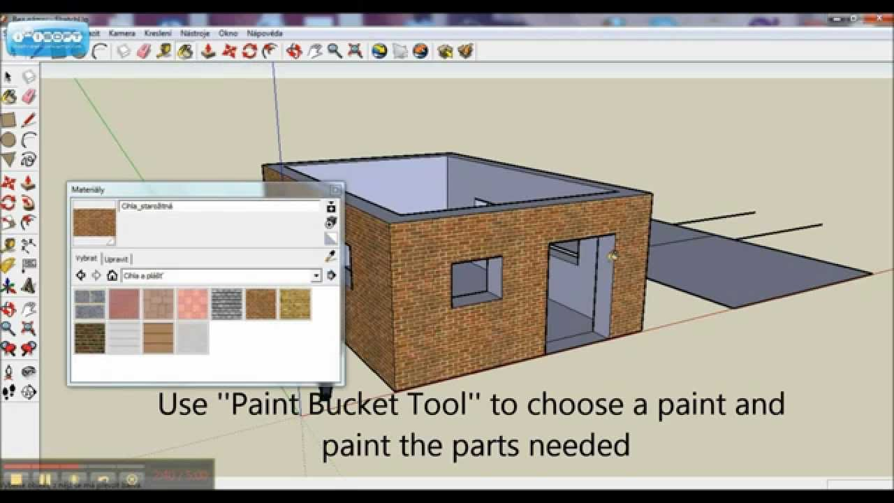 Google sketchup tutorial basics how to build a simple for Basics of building a house