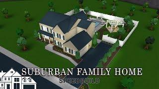 Roblox Bloxburg | Suburban Family Home Speedbuild