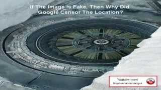 Google Earth Images of Alien Base And Flying Saucer Censored