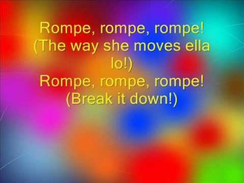 Daddy Yankee-Rompe lyrics