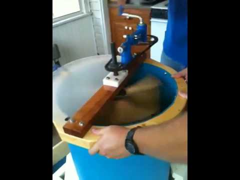 Four Frame Honey Extractor In Operation