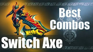 Monster Hunter World [MHW] - The BEST Switch Axe Combos (Guide)