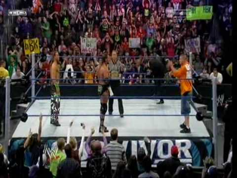 John Cena Vs Shawn Michaels  Vs Triple H (triple Threat Match For The Wwe Title) Svs video