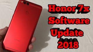 Honor 7x Software Update 2018