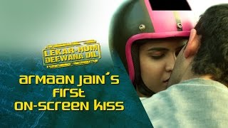 Armaan Jain's first on-screen kiss    Lekar Hum Deewana Dil   Armaan Jain & Deeksha Seth