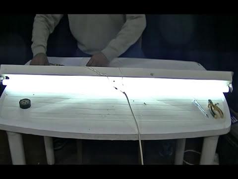 Instalacion electrica de tubo fluorescente---Fluorescent tube electrical installation