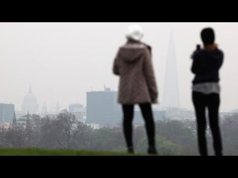 High levels of air pollution hit of England