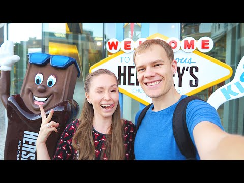 ВЛОГ: HERSHEY'S CHOCOLATE WORLD! МНОГО ШОКОЛАДА!