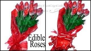DIY - How To Make Edible Hershey Kisses Rose Bouquet - Valentine
