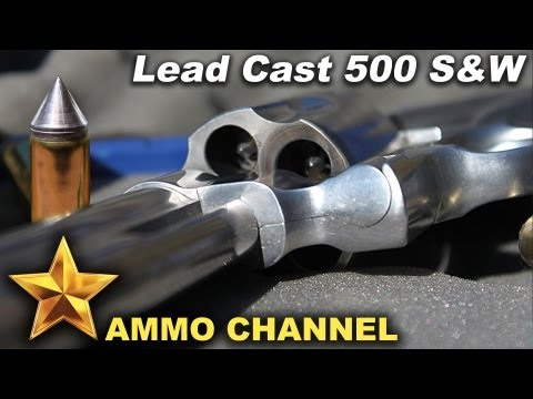 500 S&W shooting the Spire Point lead cast bullets - Reloading bullet casting Smith Wesson magnum