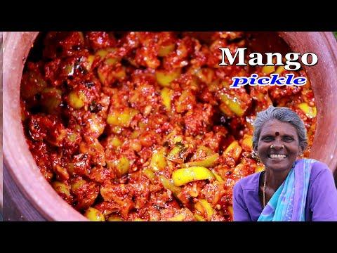 நீண்ட நாள் கெடாமலிருக்கும் மாங்காய் ஊறுகாய் | Mango Pickle Recipe in Village #MangoPickle