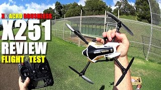 XK X251 Brushless Acrobatic Quadcopter Drone Review - Part 2 - [Flight & CRASH Test]