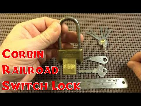 (82) Antique Corbin Railroad Switch Padlock Bypassed