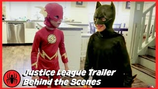THE FLASH and BATMAN Justice League Trailer BEHIND THE SCENES Wonder Woman Aquaman SuperHero Kids