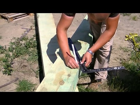 Budowa domu dzień po dniu. Dzień 55-56. Więźba dachowa.Krokwie narożne.Kurs DVD