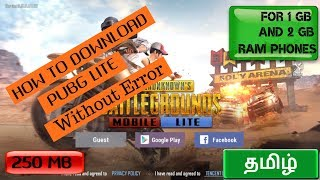 How to Download l PUBG Lite l Without Server Error in தமிழ்  ( Gameplay )